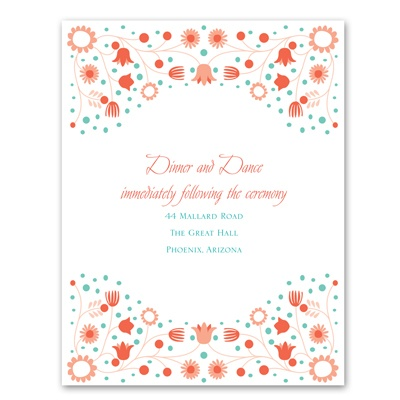 Fairy Floral - Reception Card