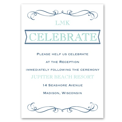 Exhilarating - Reception Card
