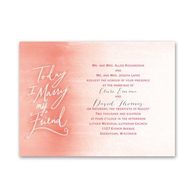 Simple Watercolor - Petite Invitation