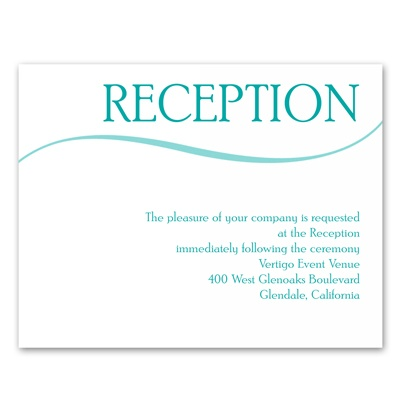 Modern Display - Reception Card
