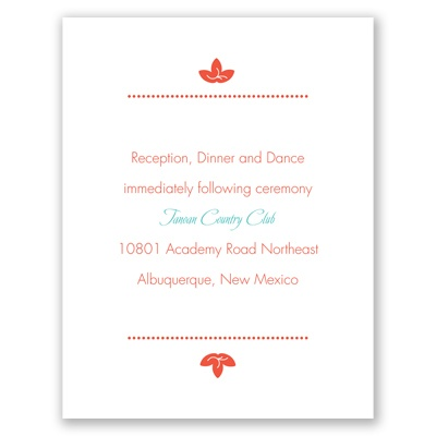 Floral Corners - Reception Card