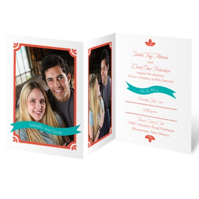 Floral Corners - Photo Invitation