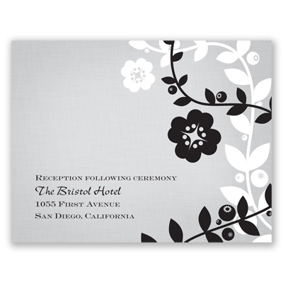 Modern Floral Vines - Reception Card