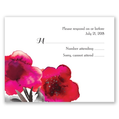 Floral Passion - Fuchsia - Response Card