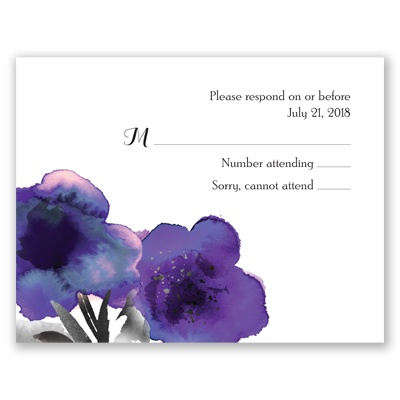 Floral Passion - Violet - Response Card