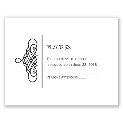 Calligraphy Swirls - Response Card