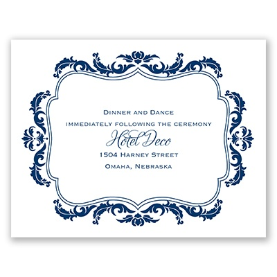 Flourish Crest - Reception Card
