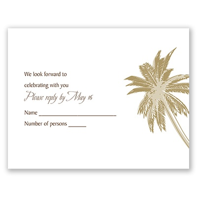 Palm Tree Canopy - Champagne - Response Card