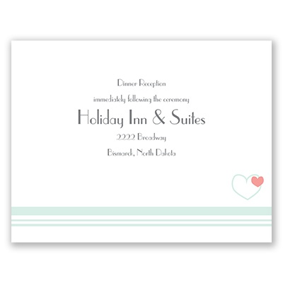 Hearts and Stripes - Reception Card