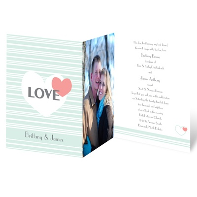 Hearts and Stripes - Photo Invitation
