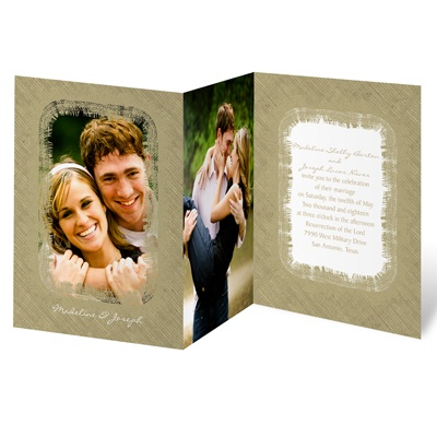 Frayed Frame - Photo Invitation