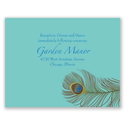 Show of Color - Reception Card