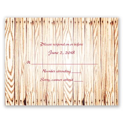 Gettin' Hitched - Response Card