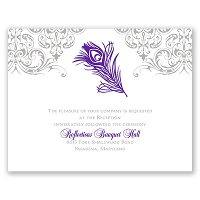Effortless Beauty - Reception Card