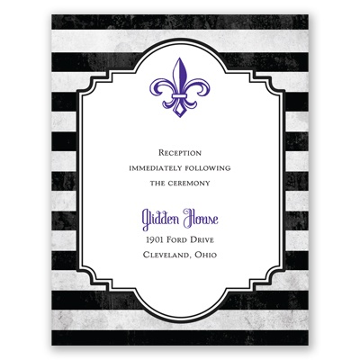 Striped Style - Choose Your Design - Reception Card