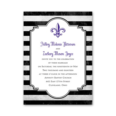 Striped Style - Choose Your Design - Petite Invitation