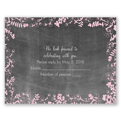Chalkboard Blossoms - Response Card