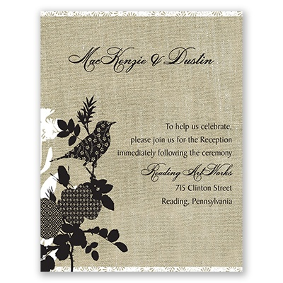 Mixed Patterns - Reception Card