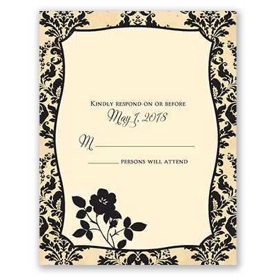 French Floral - Response Card