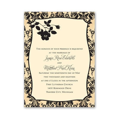 French Floral - Petite Invitation