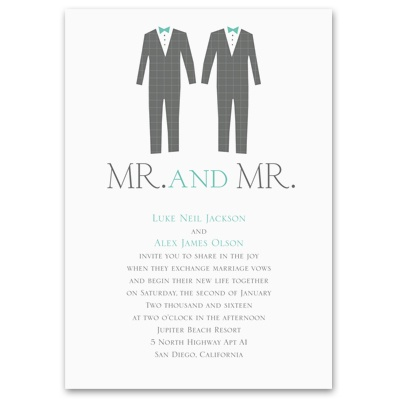 Dashing Grooms - Invitation