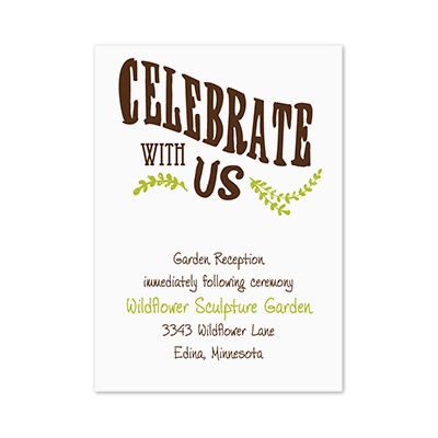 Celebrate the Grooms - Reception Card