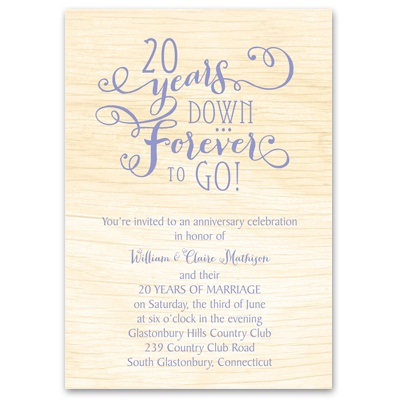 Naturally Together - Anniversary Invitation