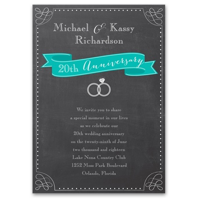 Shining Moment - Anniversary Invitation