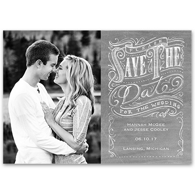 Fancy Flourishes - Save the Date Card