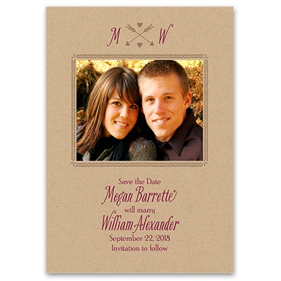 Struck by Love - Save the Date Card