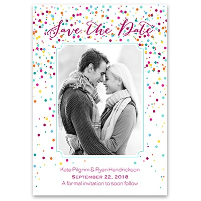 Confetti - Save the Date Card