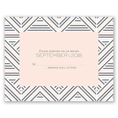 Layered Chevron - Response Card