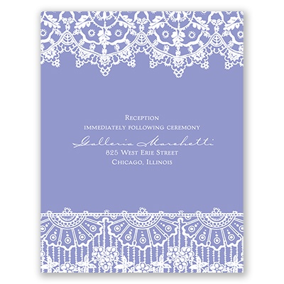 Exotic Lace - Reception Card