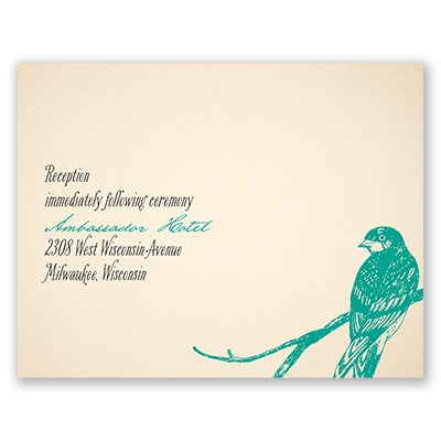 Perched Lovebirds - Reception Card