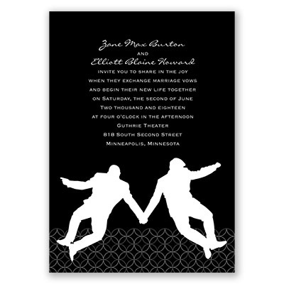 Groom Silhouettes - Invitation