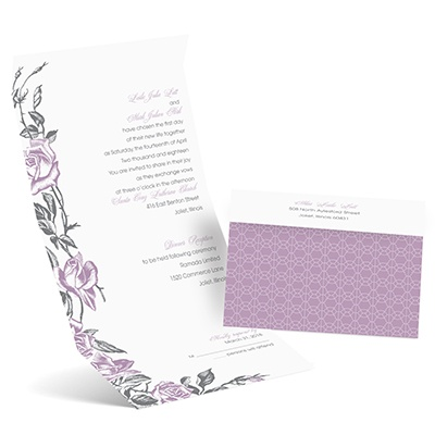 Rose Impression - Seal and Send Invitation