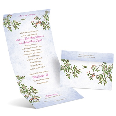 Apple Blossoms - Seal and Send Invitation