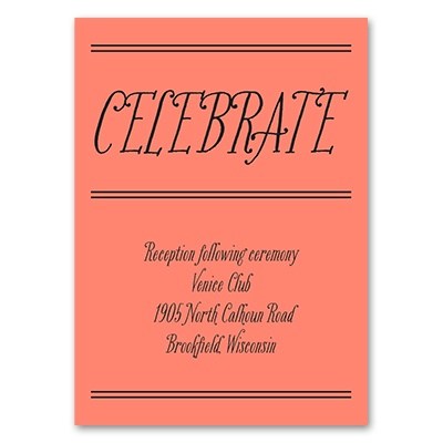 Simple Typography - Reception Card