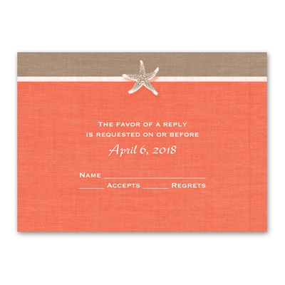 Starfish and Linen - Response Card