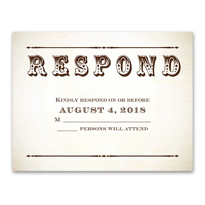 Let's Get Hitched - Response Card