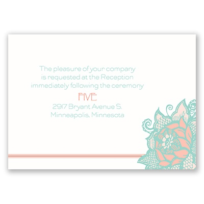 Young Rose - Reception Card