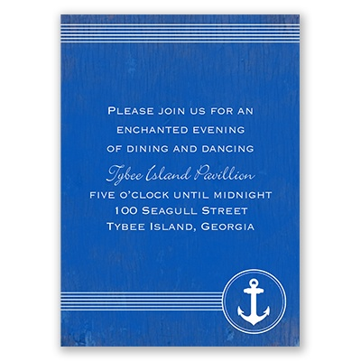 Anchored by Love - Reception Card