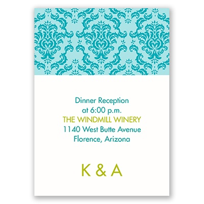 Damask Ampersand - Reception Card