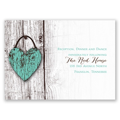 Wood Heart - Reception Card