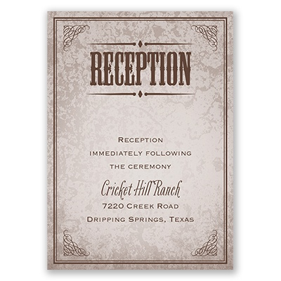 Western Poster - Reception Card