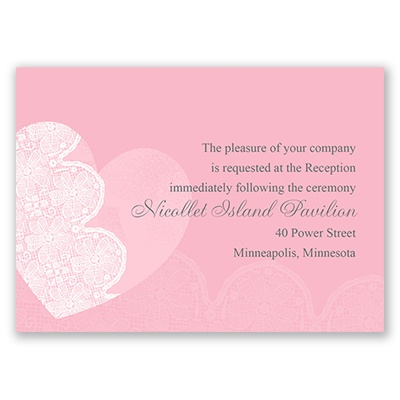 Lace Heart - Reception Card