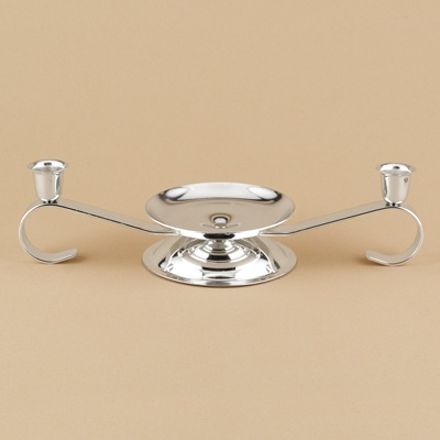 Silver Tone Unity Candle Stand