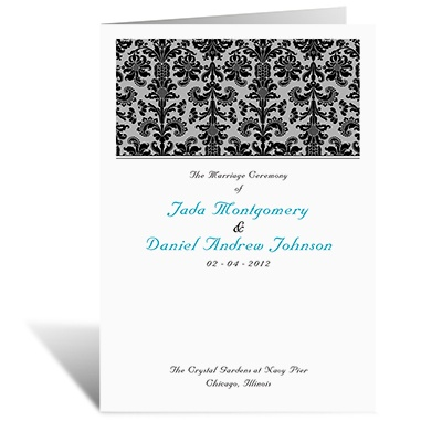 Clearly Refined - DIY Wedding Program
