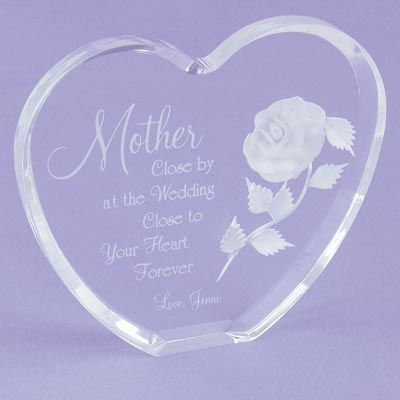 Clear Acrylic Mother's Heart Keepsake