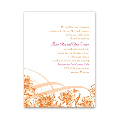 Flowers and Flourishes - Petite Invitation